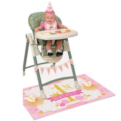 Pink and Gold High Chair Kit