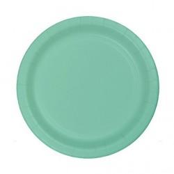 Mint Green Paper Dessert Plates