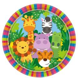 Jungle Friends Party Plates