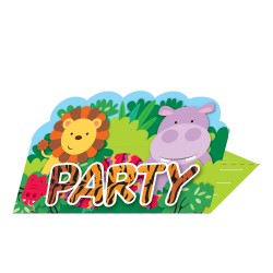 Jungle Friends Party Invitations
