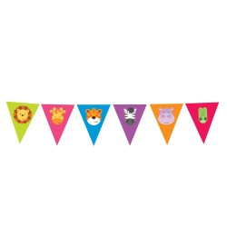 Jungle Friends Flags Banner