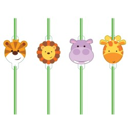 Jungle Friends Straws