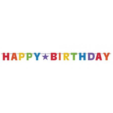 Happy Birthday Rainbow Banner