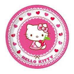 Hello Kitty Hearts Plates