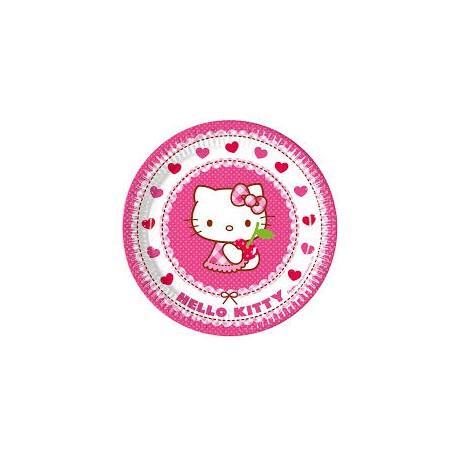 Hello Kitty Hearts Plates