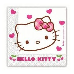 Hello Kitty Hearts Napkins