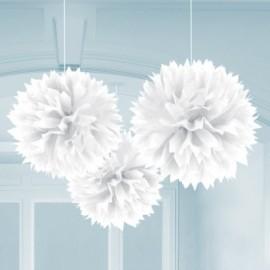 Pendenti Fluffy Bianco 3pz