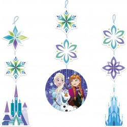 Frozen Snowflakes Hanging Cutouts