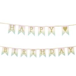 Ghirlanda bandierine Pastel Happy Birthday