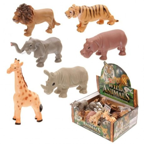 Soft Jungle Animals Favor Set 6 pieces