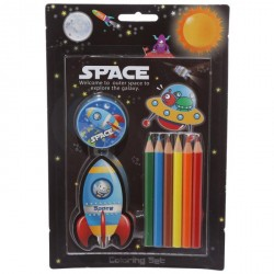 Space coloring set