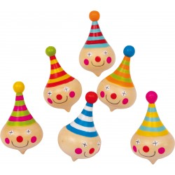 Clown Wooden Assorted Whirligig