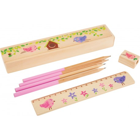 Wooden pencil case Pink
