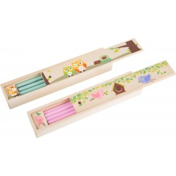 Wooden pencil case
