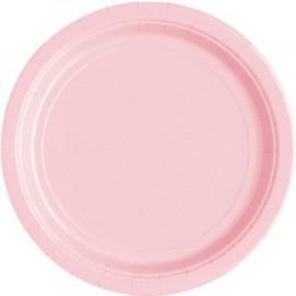 Light Pink Paper Dessert Plates