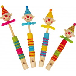 Flauto in legno Clown