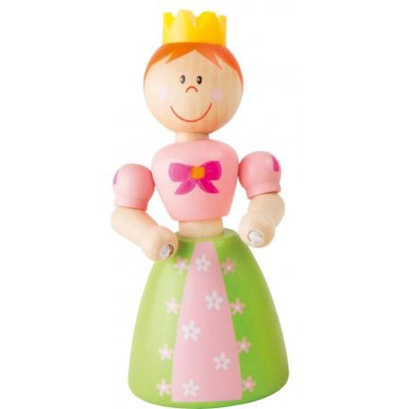 Wooden flexible Princess - green skirt