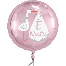 "It's a Baby Girl Foil Balloon ""è nata"""