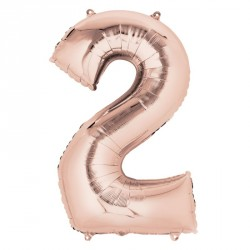 2 Rose Gold SuperShape Foil Balloon