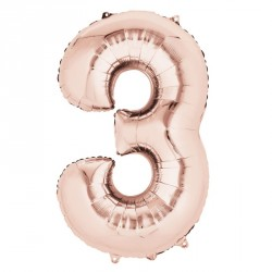 3 Rose Gold SuperShape Foil Balloon