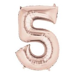 5 Rose Gold SuperShape Foil Balloon