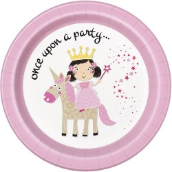 Princess and Unicorn Plates