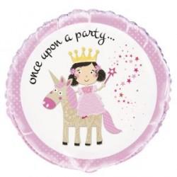Palloncino foil Principessa e Unicorno