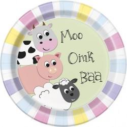 Pastel Farm Plates