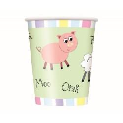 Pastel Farm Cups