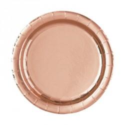 Piattini Oro Rosa Metallizzato