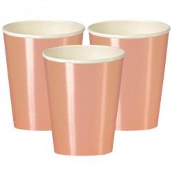 Bicchieri Oro Rosa Metallizzato