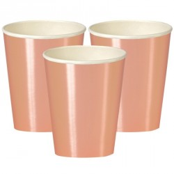 Rose Gold Foil Cups 335 ml 9 pc