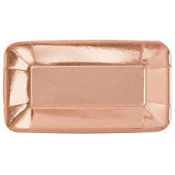 Piatti o vassoi rettangolari Oro Rosa Metallizzato