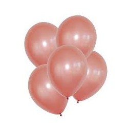 Rose Gold Latex Balloons 5pc