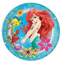 Ariel Mermaid Plates