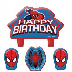 Spiderman Candles Set