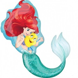 Ariel The Little Mermaid SuperShape Foil Balloon
