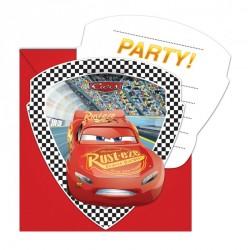 Biglietti Invito festa Cars