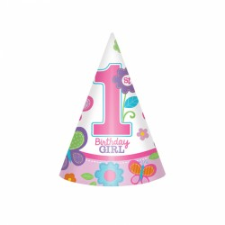Butterfly First Birthday Hats
