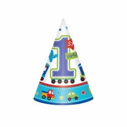 All Aboard First Birthday Hats