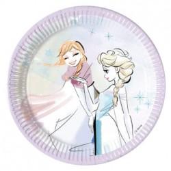 Frozen Sparkle Dessert Plates