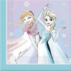 Tovaglioli Frozen Sparkle per Festa compleanno a tema Frozen