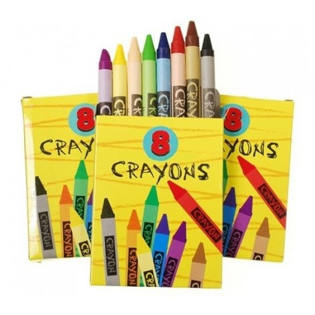 Colored crayons set going home favor