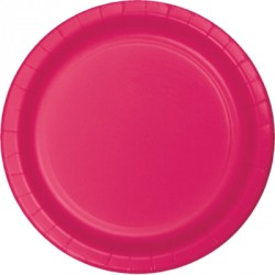 Bright Pink Paper Dinner Plates