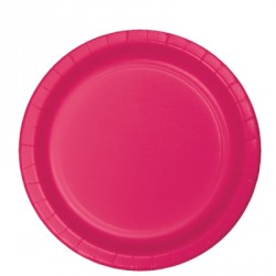 Bright Pink Paper Dessert Plates