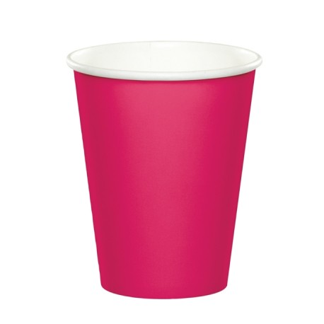 Bright Pink Paper Cups