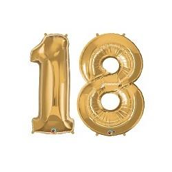 Set Palloncini 18 anni foil Oro
