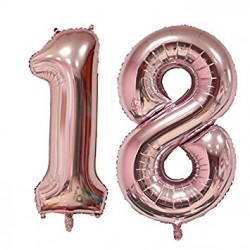 18 Rose Gold SuperShape Foil Balloons Set