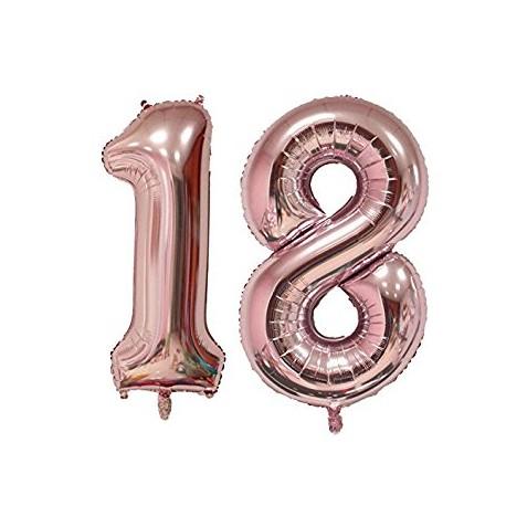 18 Rose Gold SuperShape Foil Balloons Set