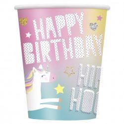 Bicchieri Unicorn Rainbow per festa compleanno tema Unicorno